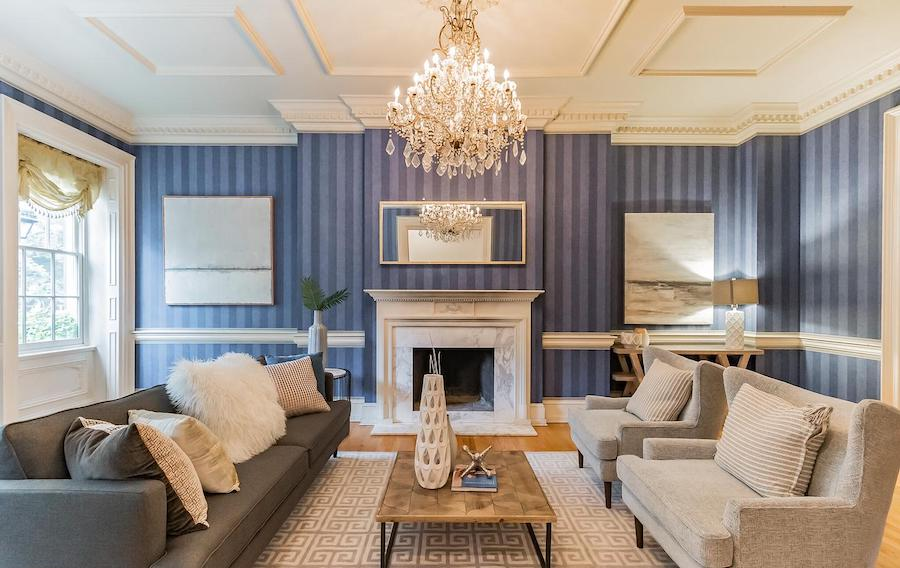 society hill federal townhouse for sale living room