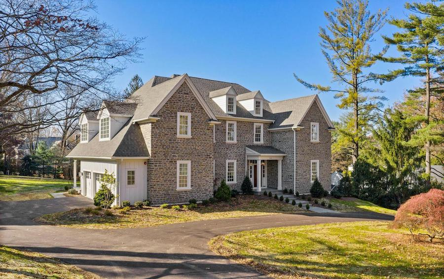wayne custom colonial house for sale exterior front