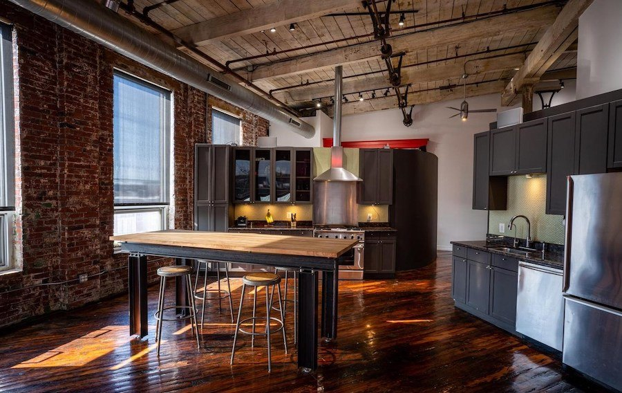 fishtown loft condo for sale dining room and kitchen