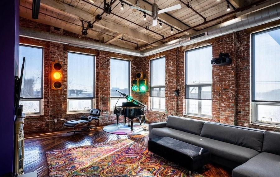 fishtown loft condo for sale living room