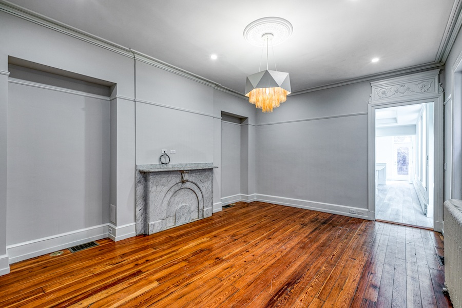 restored rittenhouse square brownstone townhouse for rent dining room