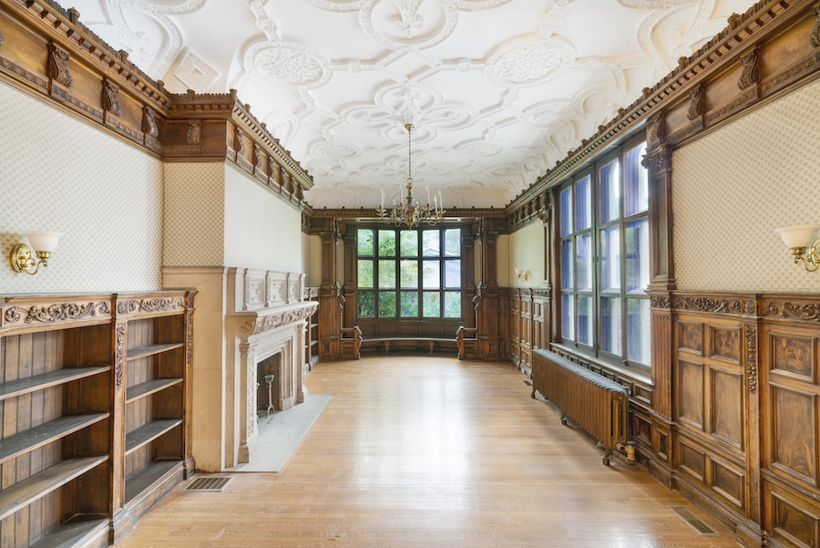 restored rittenhouse square brownstone townhouse for rent library