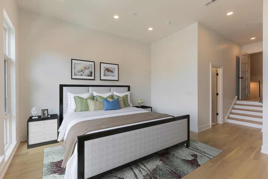 second-floor master bedroom