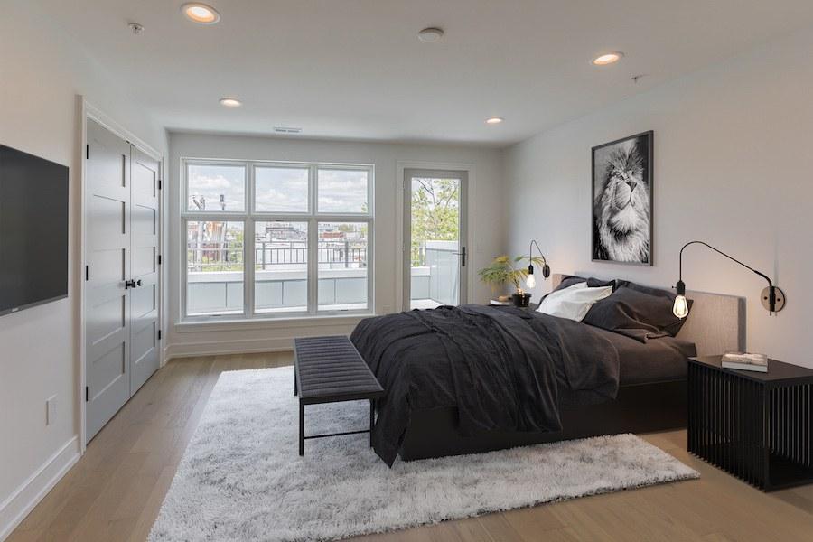 third-floor master bedroom