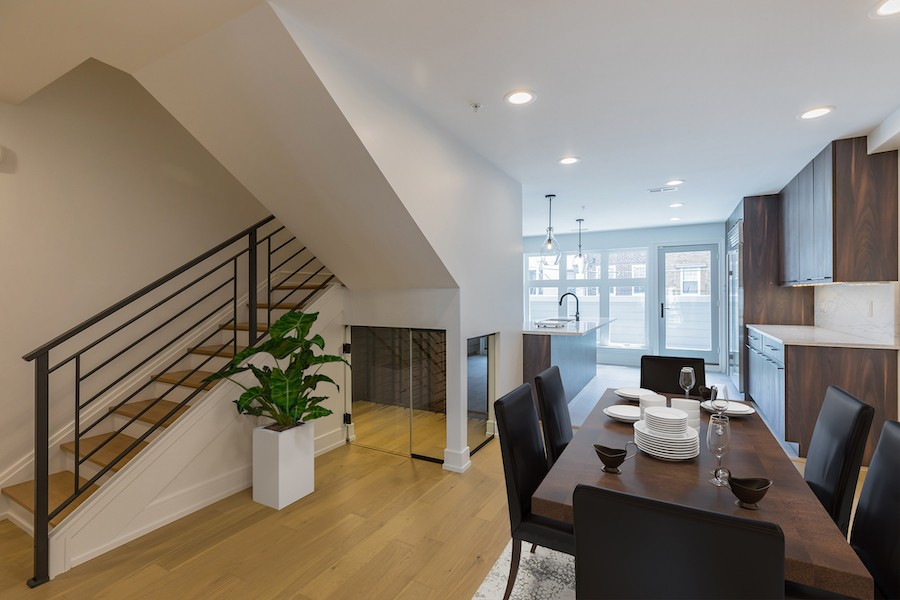 bella vista new construction townhouse for sale dining room