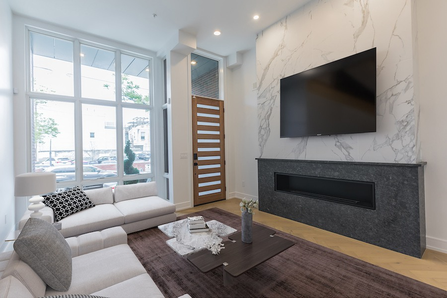 bella vista new construction townhouse for sale living room