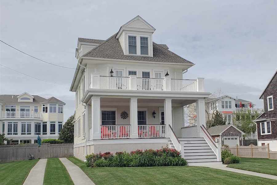 restored cape may beach block house for sale exterior front