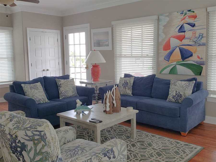 restored cape may beach block house for sale living room