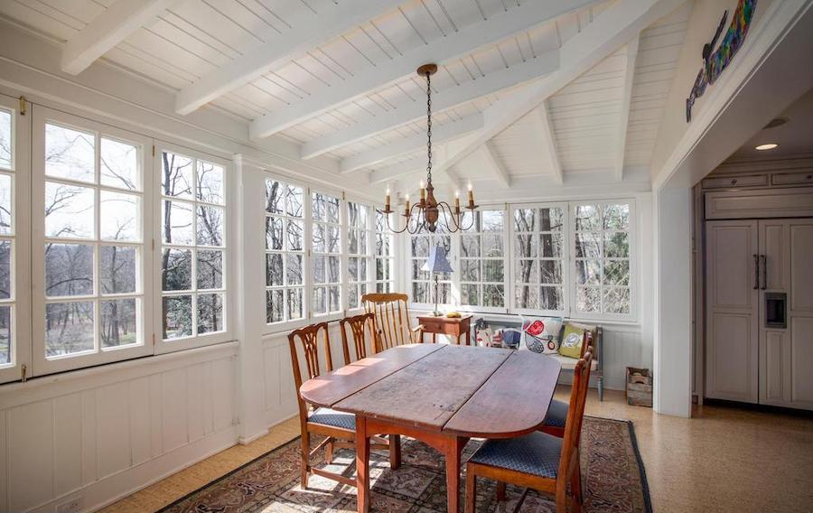 neocolonial chester springs farmhouse for sale casual dining porch