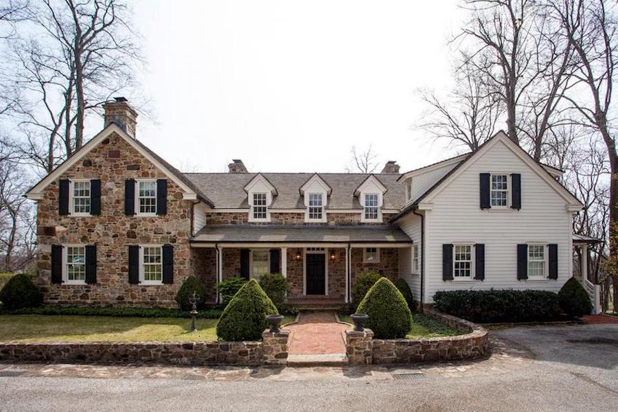 neocolonial chester springs farmhouse for sale exterior front