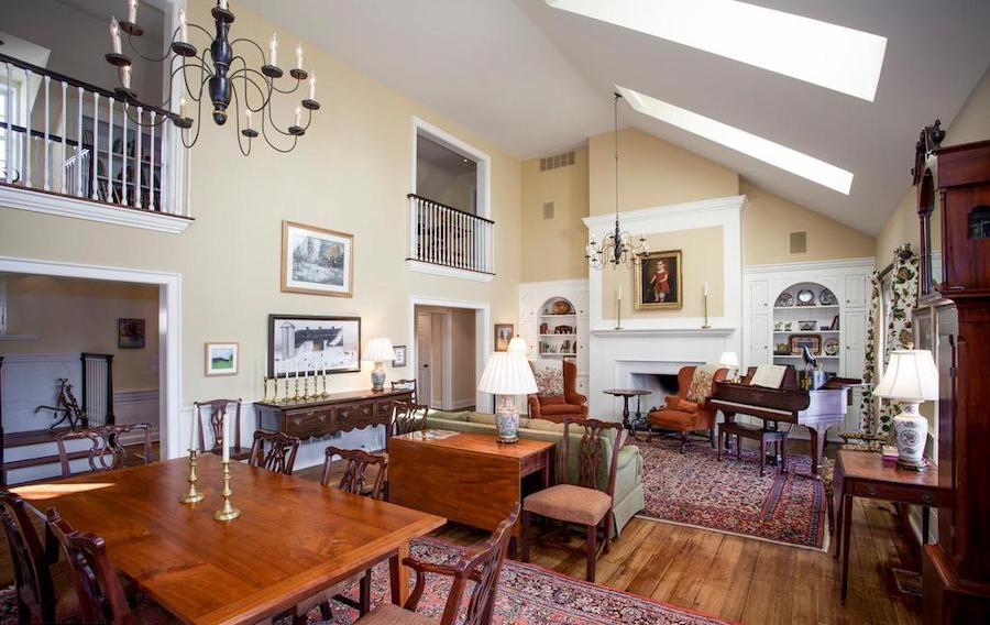 neocolonial chester springs farmhouse for sale great room