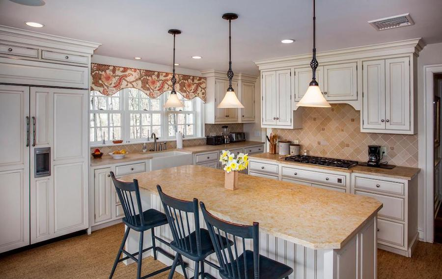 neocolonial chester springs farmhouse for sale kitchen