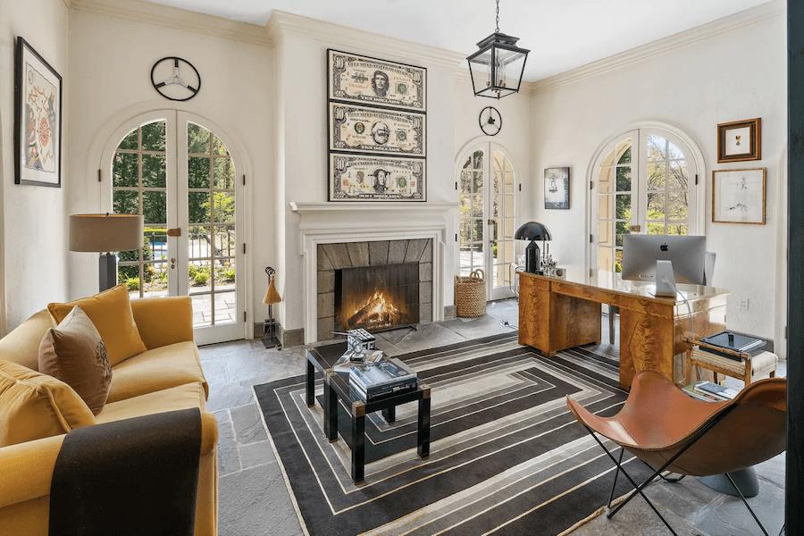 renovated chestnut hill tudor house for sale study