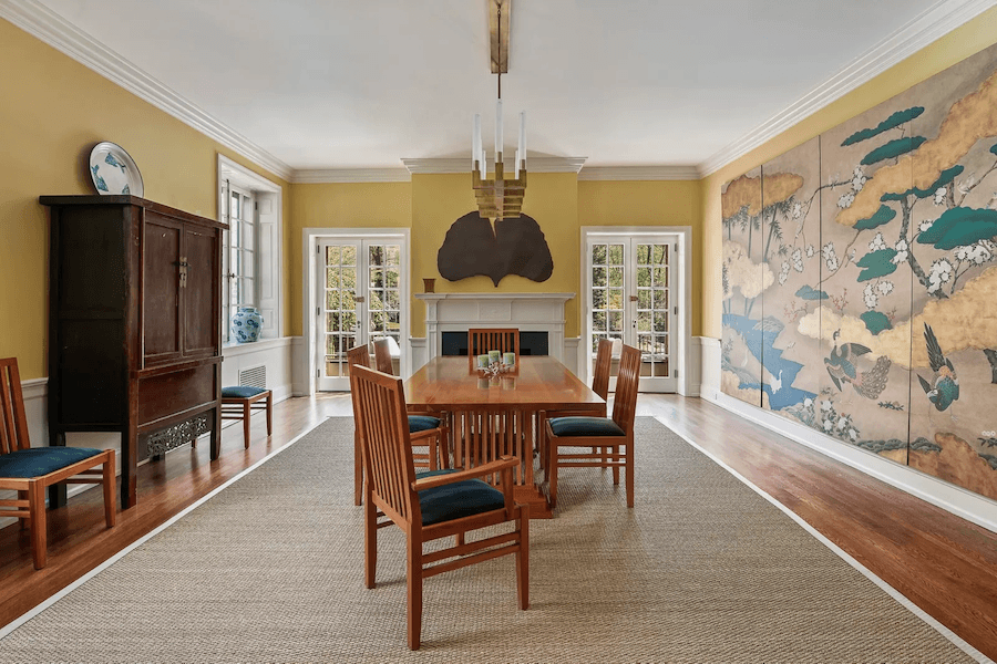 renovated chestnut hill tudor house for sale dining room