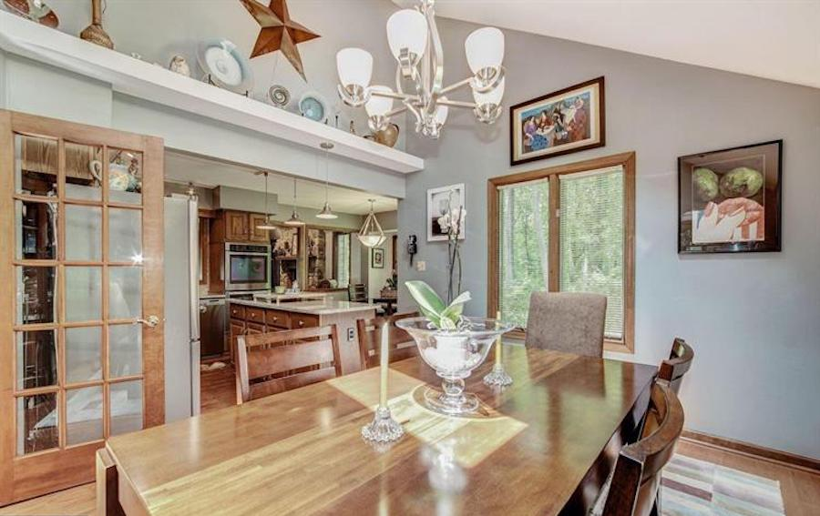 downingtown contemporary house for sale dining room and kitchen
