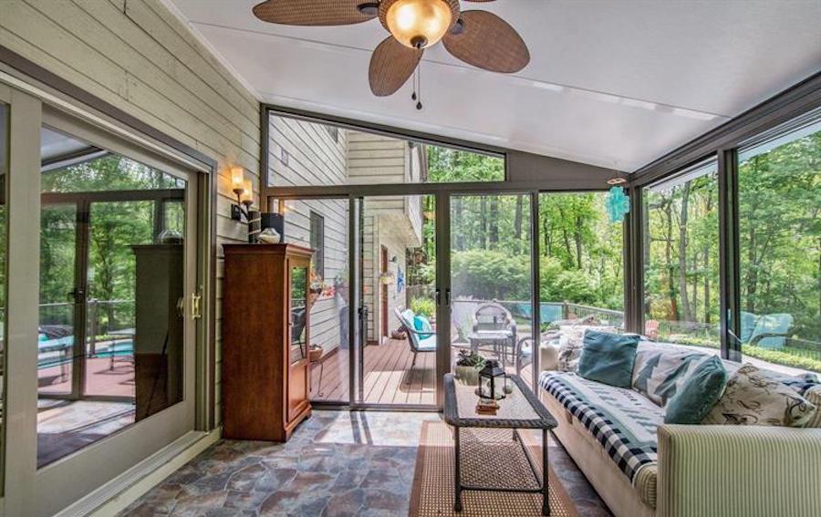 sunroom and rear deck