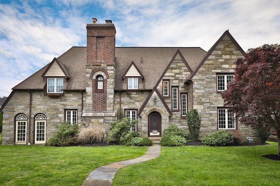 drexel hill tudor revival house for sale exterior front