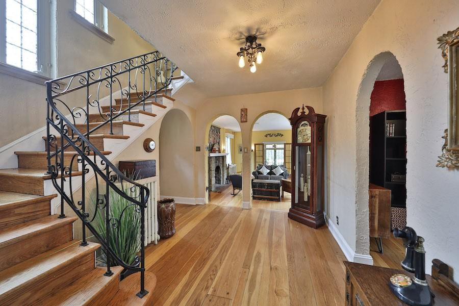 drexel hill tudor revival house for sale foyer