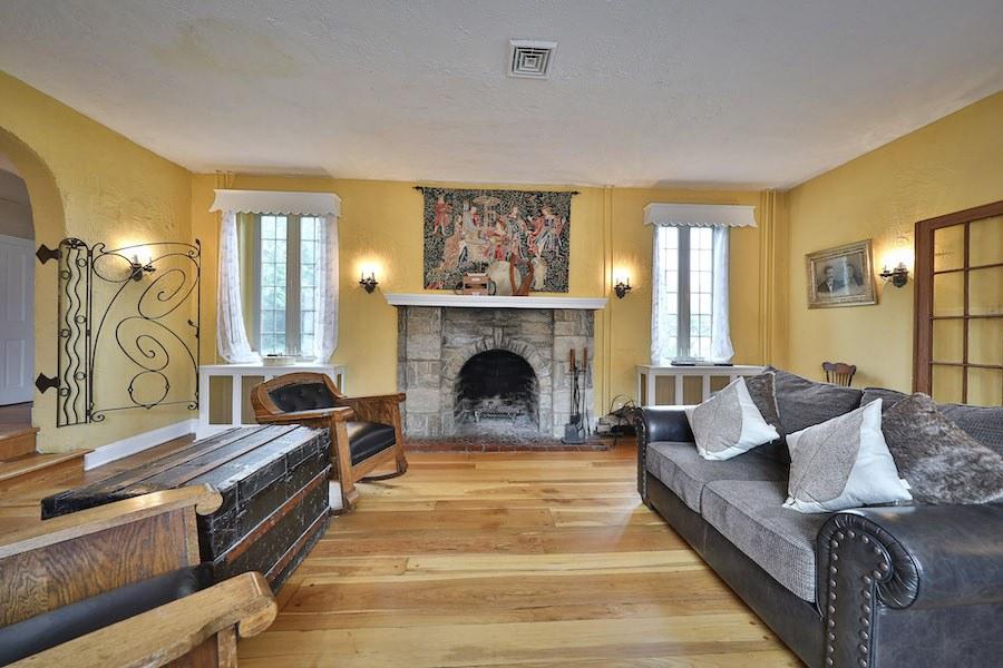 drexel hill tudor revival house for sale living room