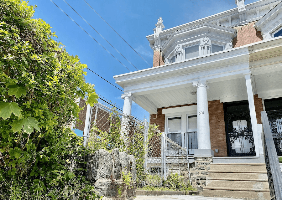rehabbed germantown rowhouse for sale exterior front
