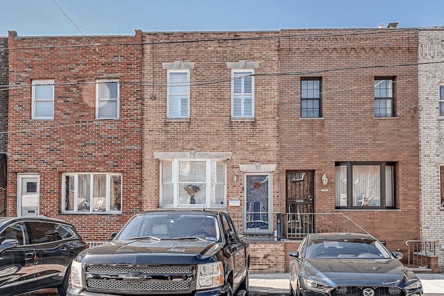 rehabbed girard estate rowhouse for sale exterior front