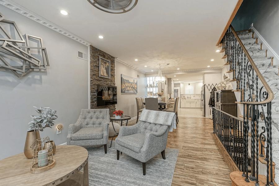 rehabbed girard estate rowhouse for sale main floor