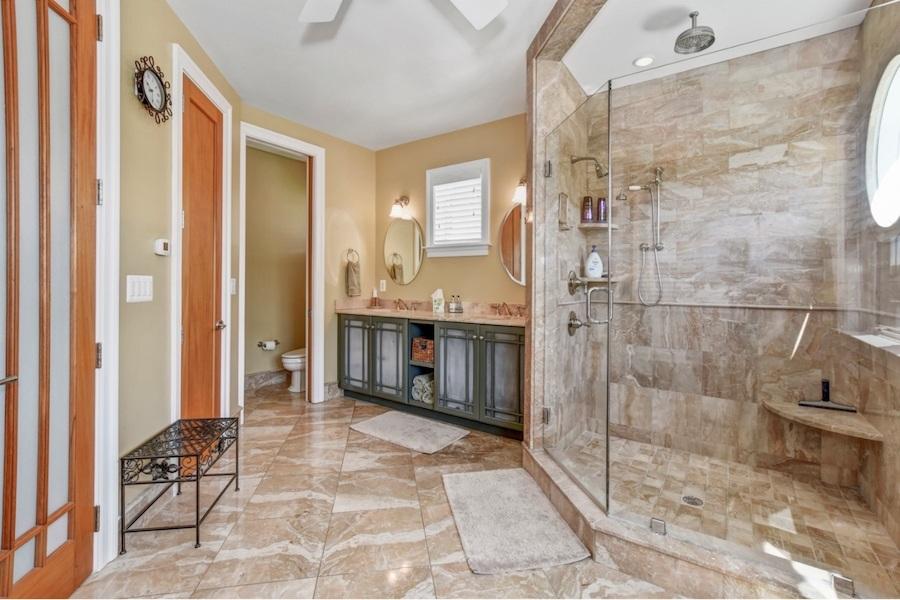 Second-floor master bathroom