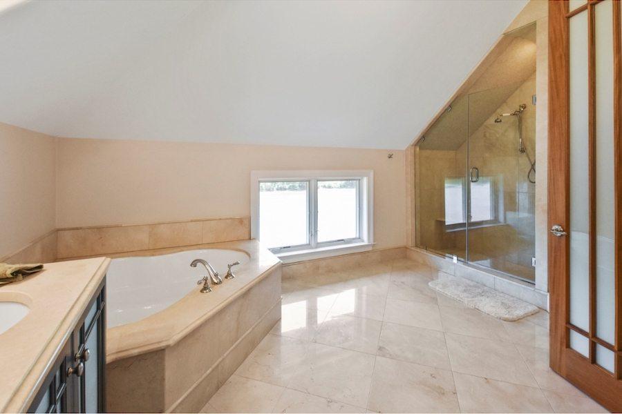 Third-floor master bathroom