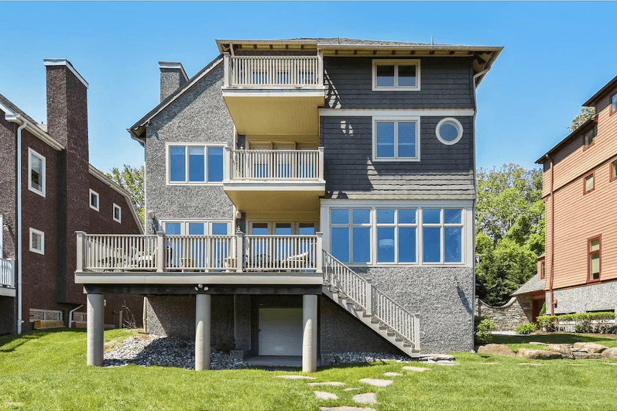 gladwyne riverside house for sale rear elevation