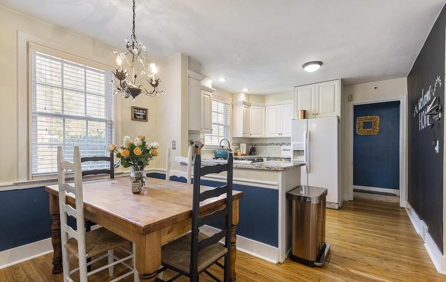 colonial glenside house for sale breakfast room and kitchen