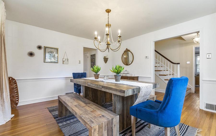 colonial glenside house for sale dining room