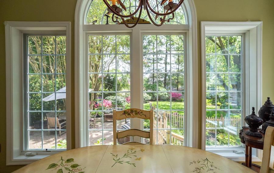 backyard view from breakfast-room window