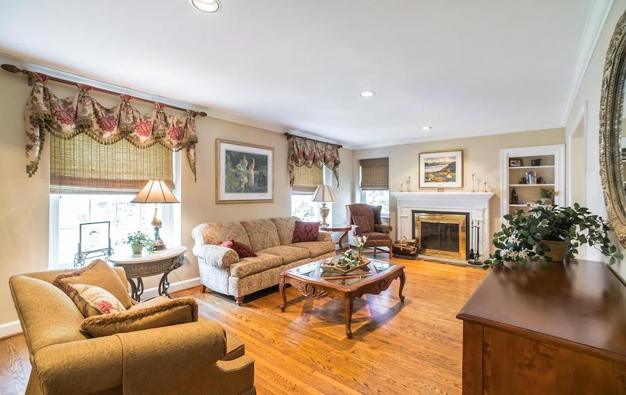 haverford split-level cape cod house for sale living room