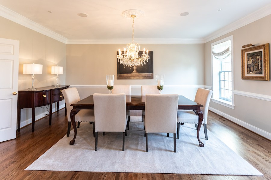 newtown square colonial house for sale dining room