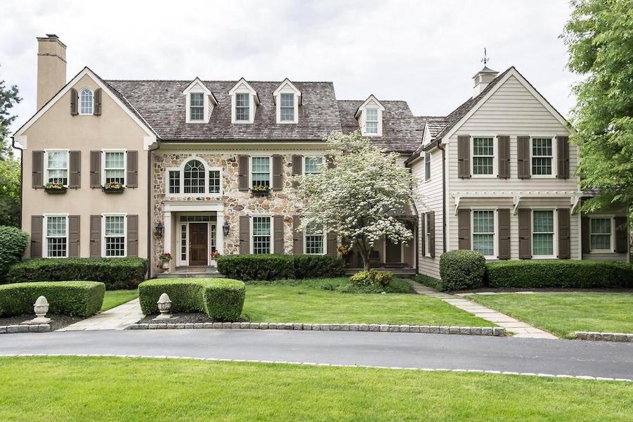 newtown square colonial house for sale exterior front
