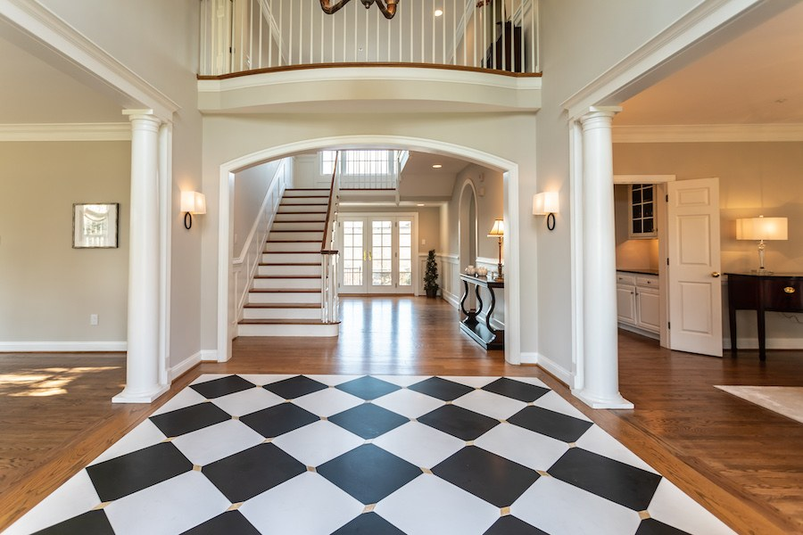 newtown square colonial house for sale foyer