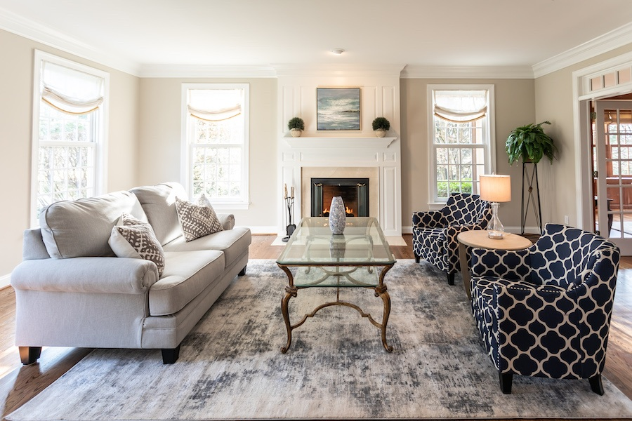 newtown square colonial house for sale living room