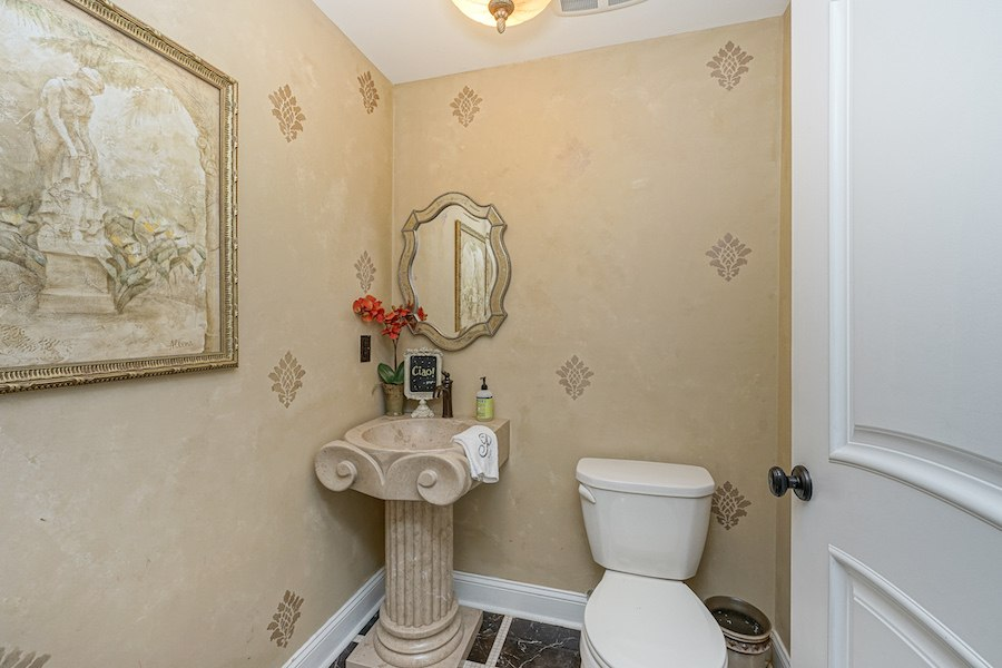 packer park mcmansion house for sale powder room