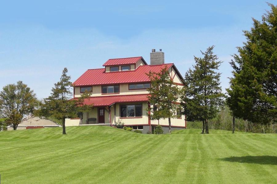 timber-frame pipersville house for sale exterior front