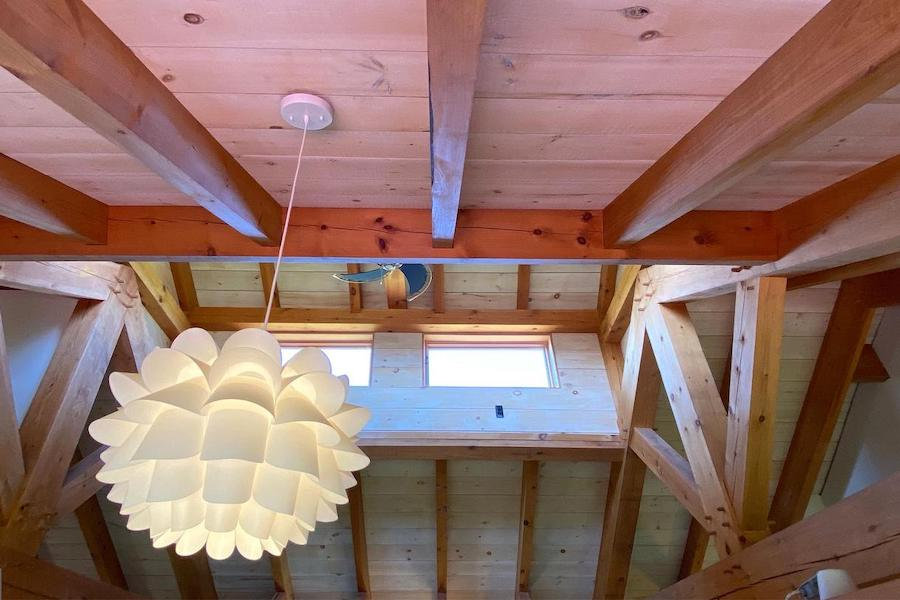 timber-frame pipersville house for sale clerestory roof