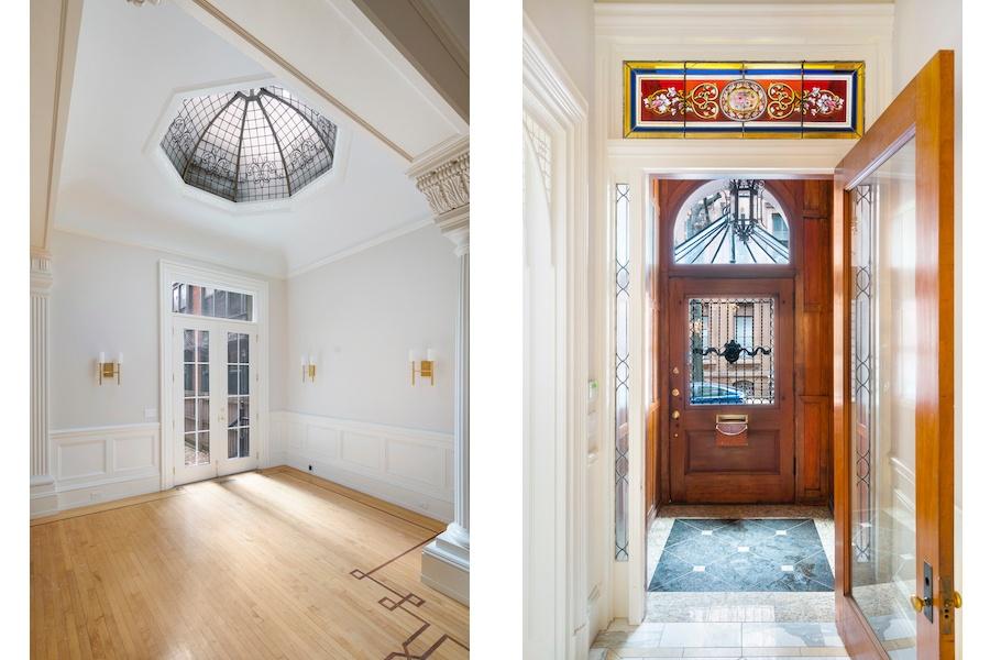 living-room oculus and vestibule transom