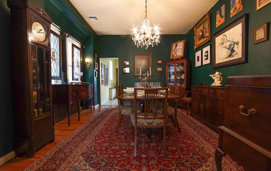 renovated south philly rowhouse for sale dining room