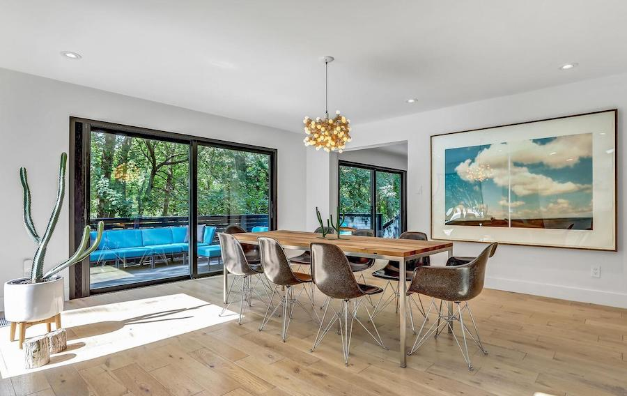 refreshed villanova contemporary house for sale dining room