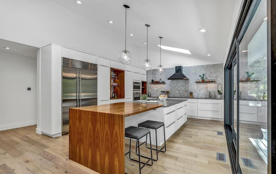 refreshed villanova contemporary house for sale kitchen