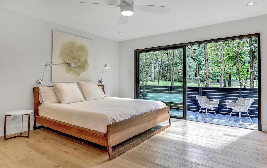 first-floor master bedroom