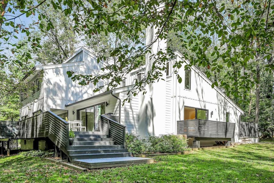 refreshed villanova contemporary house for sale exterior rear
