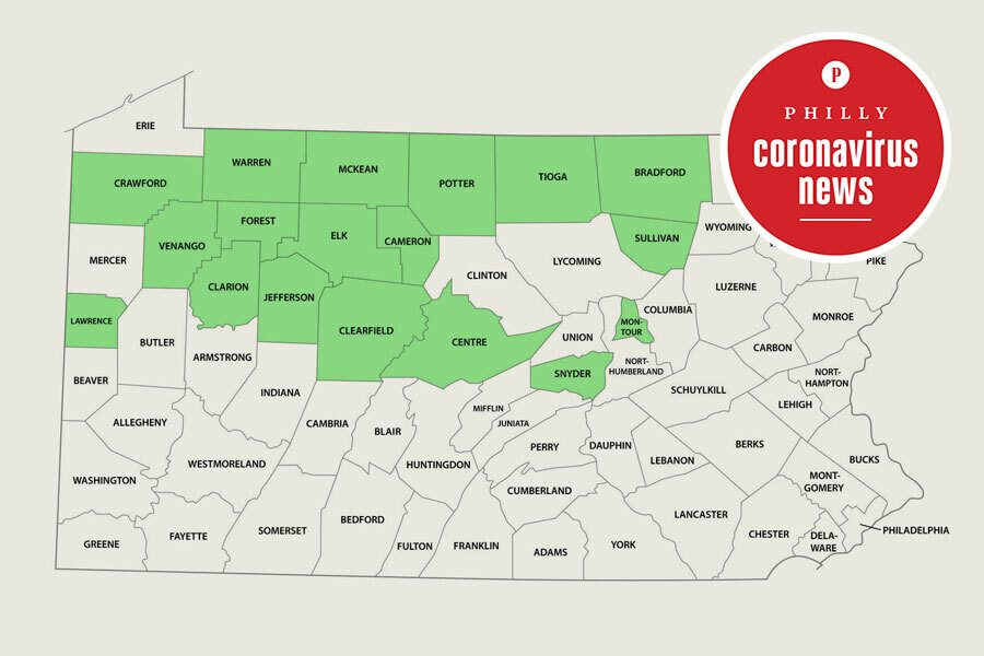 green phase counties in pennsylvania