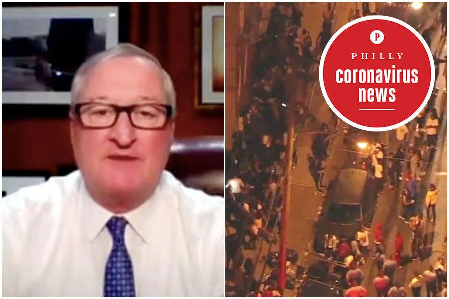 philadelphia mayor jim kenney at a press conference where he said he wants to reason with people who ignore coronavirus guidelines, not make arrests