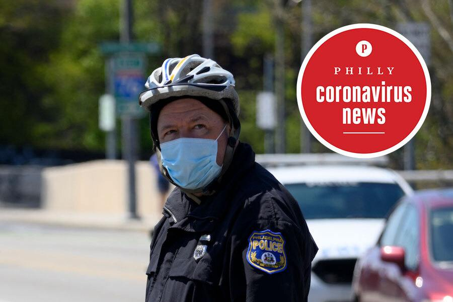 philly police officer wears a mask during the philadelphia coronavirus crisis