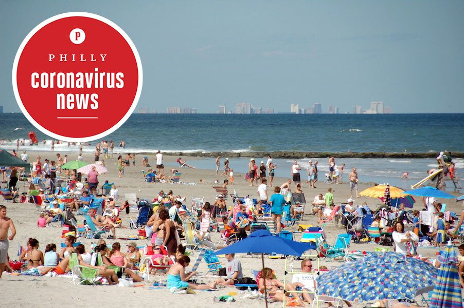 sea isle city, one of the jersey shore beaches reopening for sunbathing
